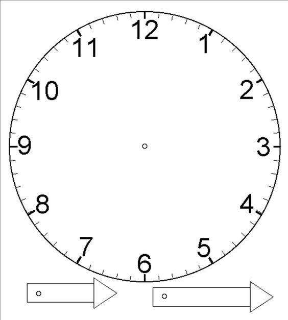 Other resources primary maths support team for Printable clock hands template